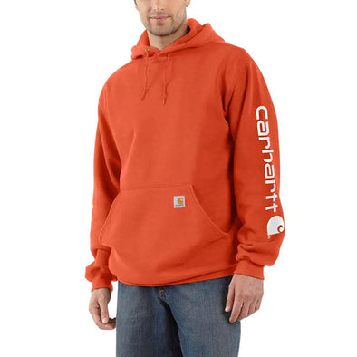 Carhartt Midweight Hooded Logo Sweatshirt Harvest Orange