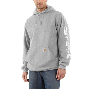 Carhartt Midweight Hooded Logo Sweatshirt Heather Grey