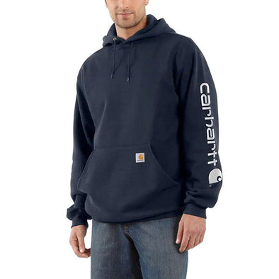 Carhartt Midweight Hooded Logo Sweatshirt New Navy