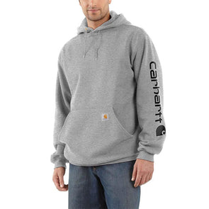 Carhartt Midweight Hooded Logo Sweatshirt Heather Gray/Black