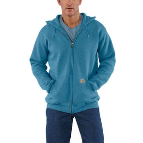 Carhartt Midweight Hooded Zip-Front Sweatshirt Ocean Blue Heather