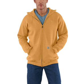 Carhartt Midweight Hooded Zip-Front Sweatshirt Yellowstone Heather