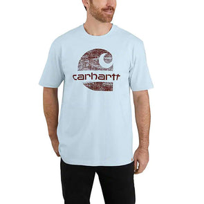 Carhartt Original Fit Heavyweight Logo Graphic Soft Blue