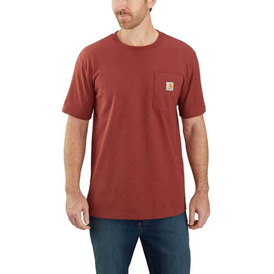 Carhartt Relaxed Fit Heavyweight Rugged Graphic Pocket Dark Barn Red Heather