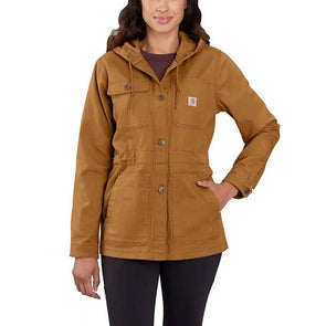 Carhartt Women's Rugged Flex Hooded Coat Carhartt Brown