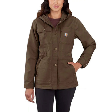 Carhartt Women's Rugged Flex Hooded Coat Tarmac