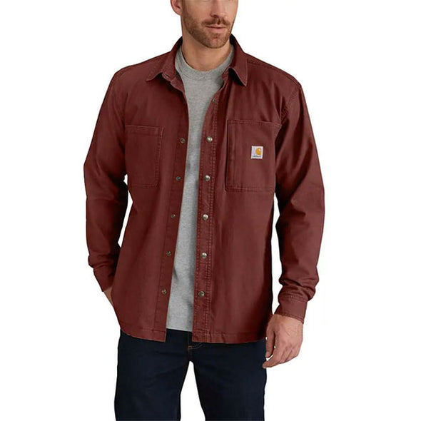 Carhartt Rugged Flex Rigby Fleece-Lined Shirt Jacket Mineral Red