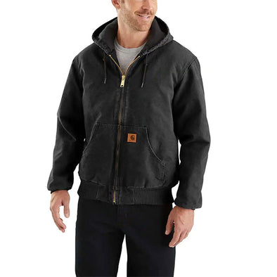Carhartt Sandstone Quilted Flannel-Lined Active Jacket Black