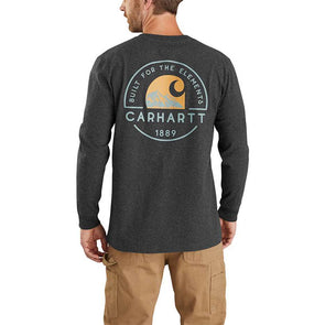 Carhartt Relaxed Fit Heavyweight Long-Sleeve Pocket Graphic T-Shirt Carbon Heather
