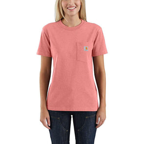 Carhartt Women's WK87 Workwear Pocket Coral Haze Heather