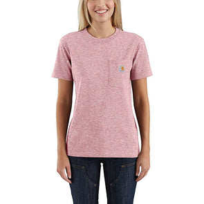 Carhartt Women's WK87 Workwear Pocket Dark Barn Red Snow Heather