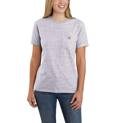 Carhartt Women's WK87 Workwear Pocket Gull Gray Snow Heather
