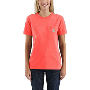 Carhartt Women's WK87 Workwear Pocket Hot Coral Heather