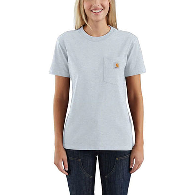 Carhartt Women's WK87 Workwear Pocket Soft Blue Heather