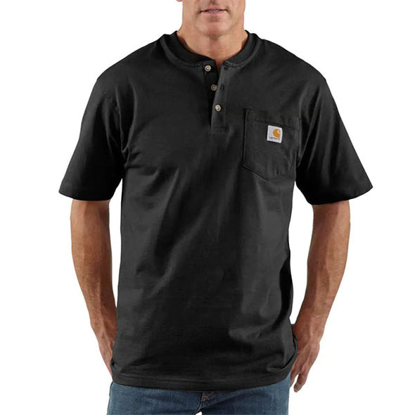 Carhartt Workwear Pocket Henley Short Sleeve Black