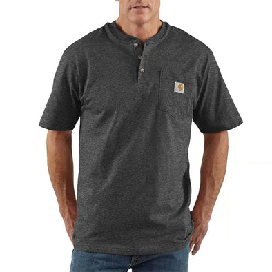 Carhartt Workwear Pocket Henley Short Sleeve Carbon Heather