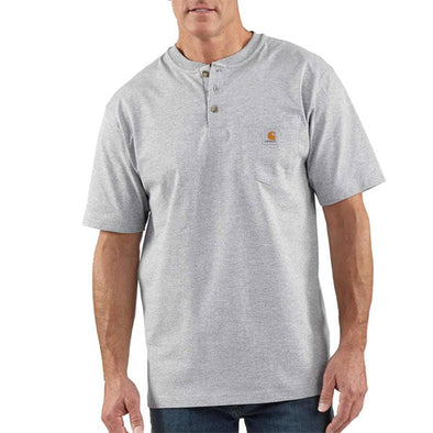 Carhartt Workwear Pocket Henley Short Sleeve Heather Grey