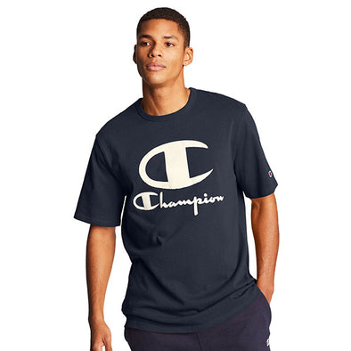 Champion Heritage Tee Furry Logo Navy