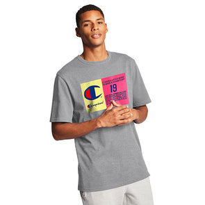 Champion Heritage Tee Pop Color Jock Tag Oxford Grey