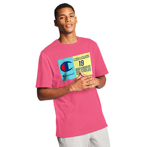 Champion Heritage Tee Pop Color Jock Tag Reef Pink