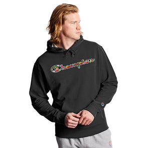 Champion Powerblend Fleece Hoodie Flags Of The World Black