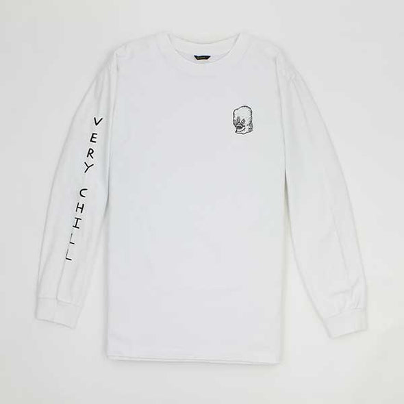 Brixton Chill L/S White - Xtreme Boardshop