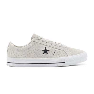 Converse One Star Pro Perforated Suede Low Top (170072C) Pale Putty/White/White