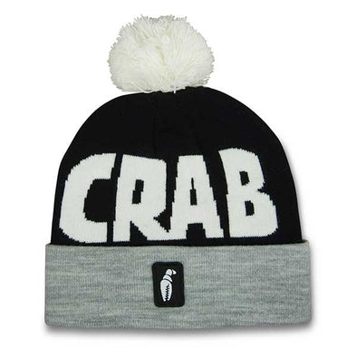 Crab Grab Pom Beanie Black/Grey