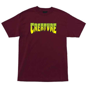 Creature Logo Regular S/S T-Shirt Burgundy