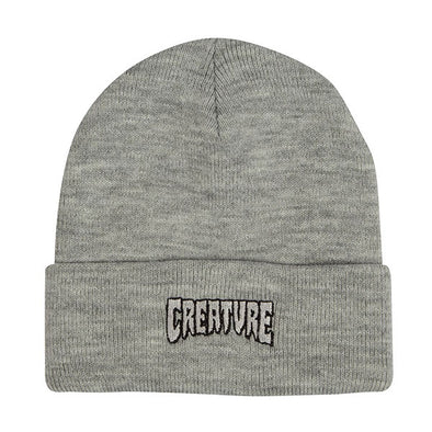 Creature Logo Outline Long Shoreman Beanie Medium Heather Grey
