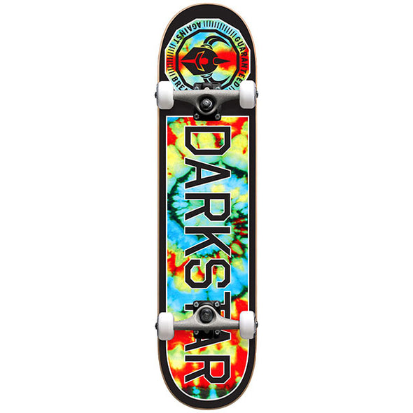 Darkstar Timeworks Complete Skateboard Multi Tie Dye 7.75 with Backpack
