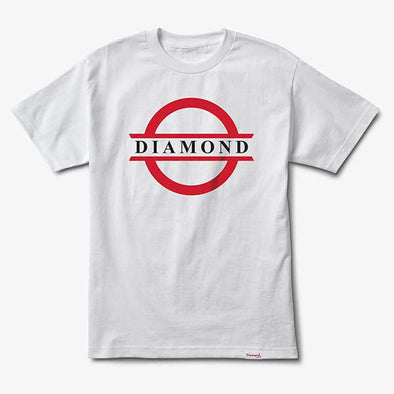 Diamond Tube Logo White - Xtreme Boardshop