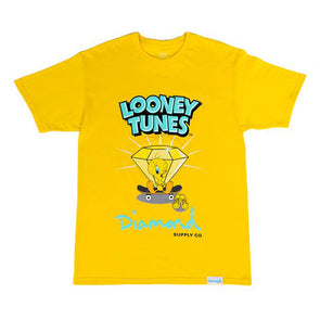 Diamond x Looney Tunes Tweety Skate Tee Yellow