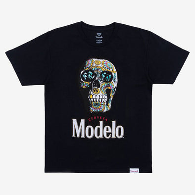 Diamond x Modelo Calavera Tee Black