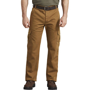 Dickies FLEX Regular Fit Duck Cargo Pants Stonewashed Brown Duck