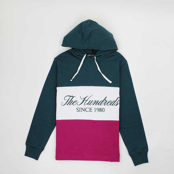 The Hundreds Ellis Hooded L/S Deep Teal - Xtreme Boardshop