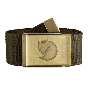 Fjallraven Canvas Brass Belt 4 cm Dark Olive