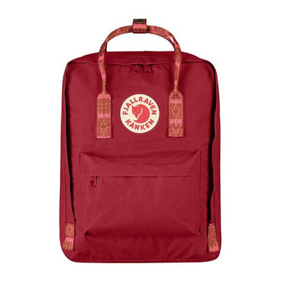 Fjallraven Kanken Backpack Deep Red/Folk Pattern - Xtreme Boardshop
