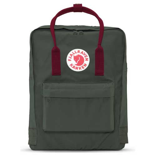 Fjallraven Kanken Backpack Forest Green/Ox Red - Xtreme Boardshop