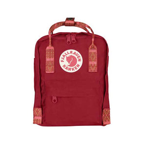 Fjallraven Kanken Mini Backpack Deep Red/Folk Pattern - Xtreme Boardshop