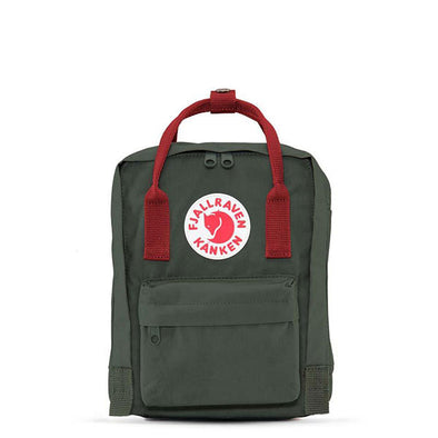 Fjallraven Kanken Mini Backpack Forest Green/Ox Red