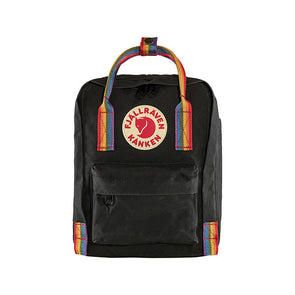 Fjallraven Kanken Rainbow Mini Backpack Black/Rainbow Pattern