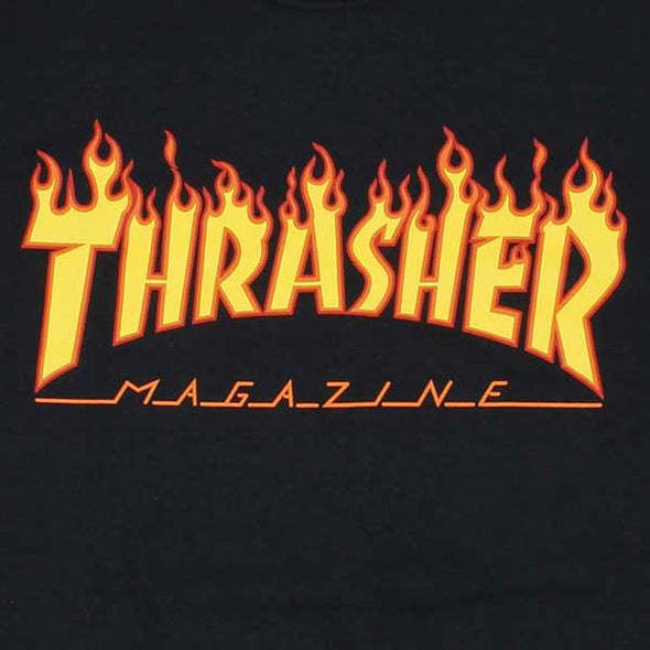 Thrasher Flame Black - Xtreme Boardshop