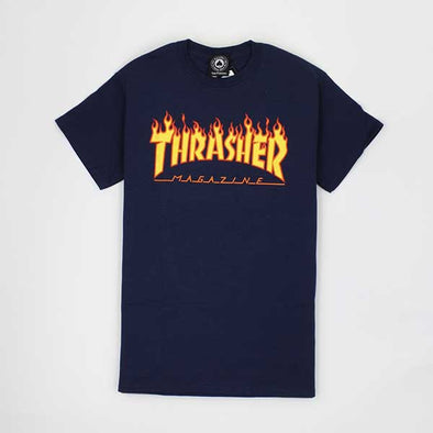 Thrasher Flame Navy - Xtreme Boardshop