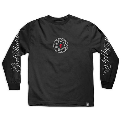 Girl Skateboards x Diamond Simplicity Script L/S Black