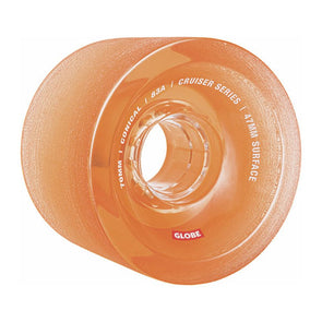 Globe Conical Cruiser Wheel Clear Amber 70mm