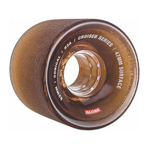 Globe Conical Cruiser Wheel Clear Coffee 62mm