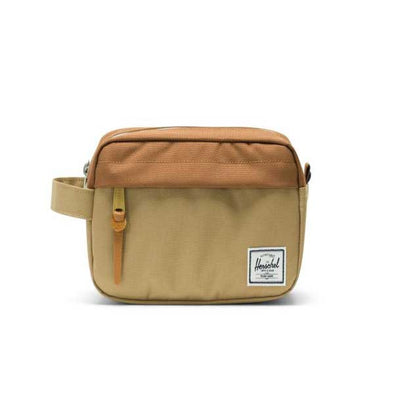 Herschel Supply Co. Chapter Travel Kit Carry-On Kelp/Saddle Brown