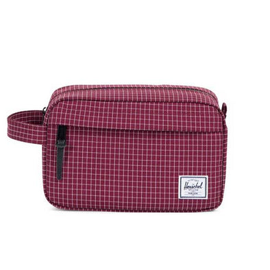 Herschel Supply Co. Chapter Travel Kit Windsor Wine Grid