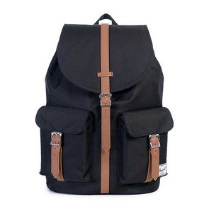 Herschel Supply Co. Dawson Backpack Black/Tan Synthetic Leather - Xtreme Boardshop